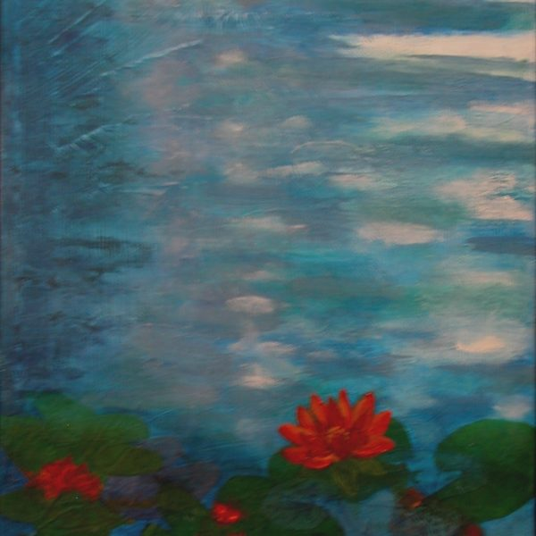 "© Laura Gabel, ""Lily 1"". 10x20, oil. $400."