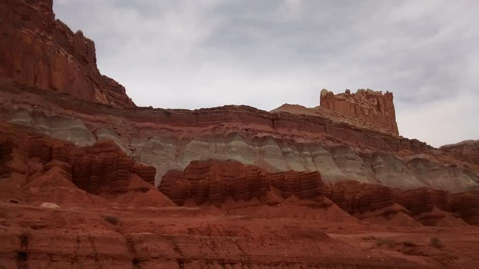 barren and beautiful capitol reef