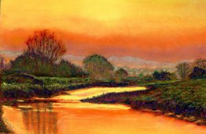 """© Laura Gabel, """"Glorious Foretaste"""". Pastel on UArt. Private collection."""