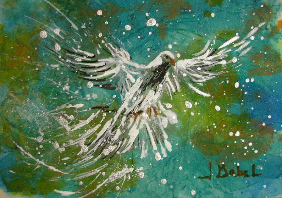 """© Laura Gabel, """"You Are His Masterpiece"""". Acrylic on canvas, 8 x 10. Private collection."""