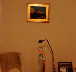 "© Laura Gabel, ""Joyful Morning"". Pastel on UArt, 19 x 16. Private collection."