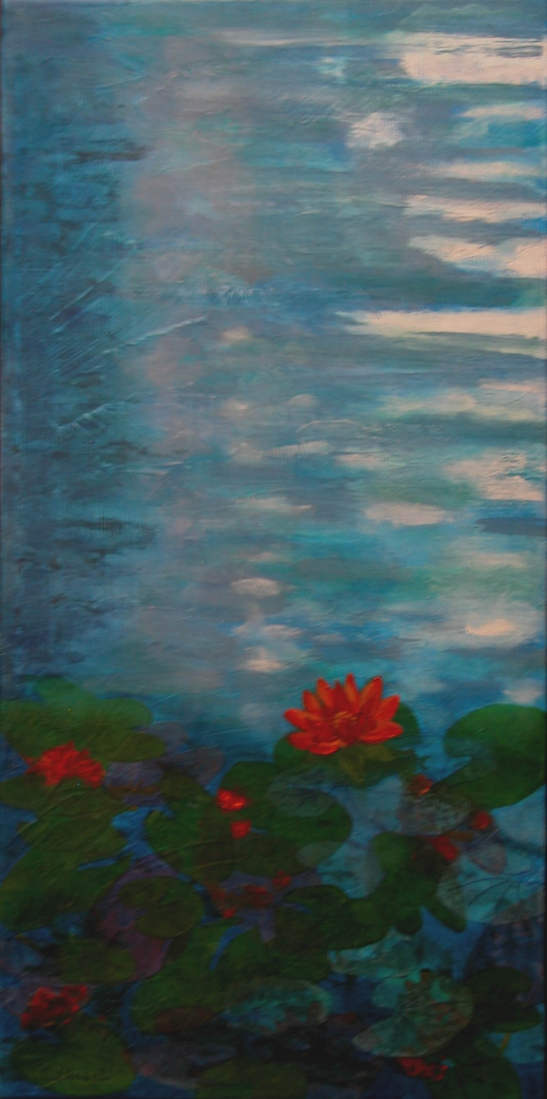 "© Laura Gabel, ""Lily 1"". Oil, 10x20. $400."