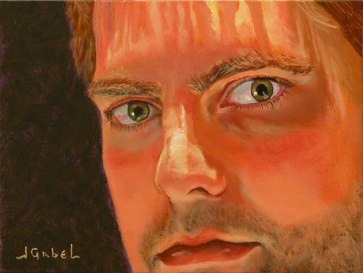 "Harry the man 3 © Laura Gabel, ""Harry"". Oil, 9 x 12. $650."