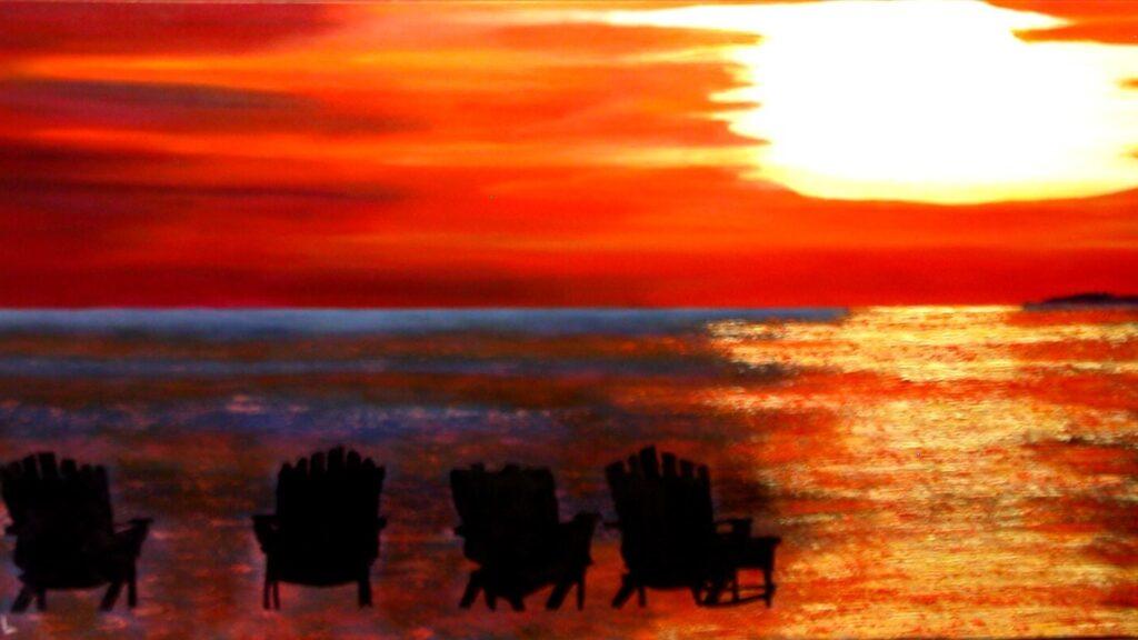 "habitat myth 3 © Laura Gabel, ""Hernando Beach"". Oil, 24 x 48. Private collection."