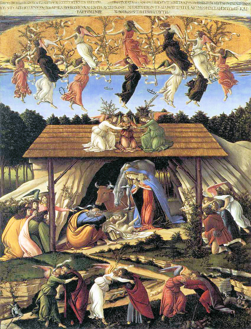 botticelli nativity emmanuel 1, celebrate advent