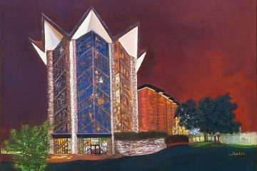 "© Laura Gabel, ""Anniversary Chapel"", 18x24, pastel. Private collection."