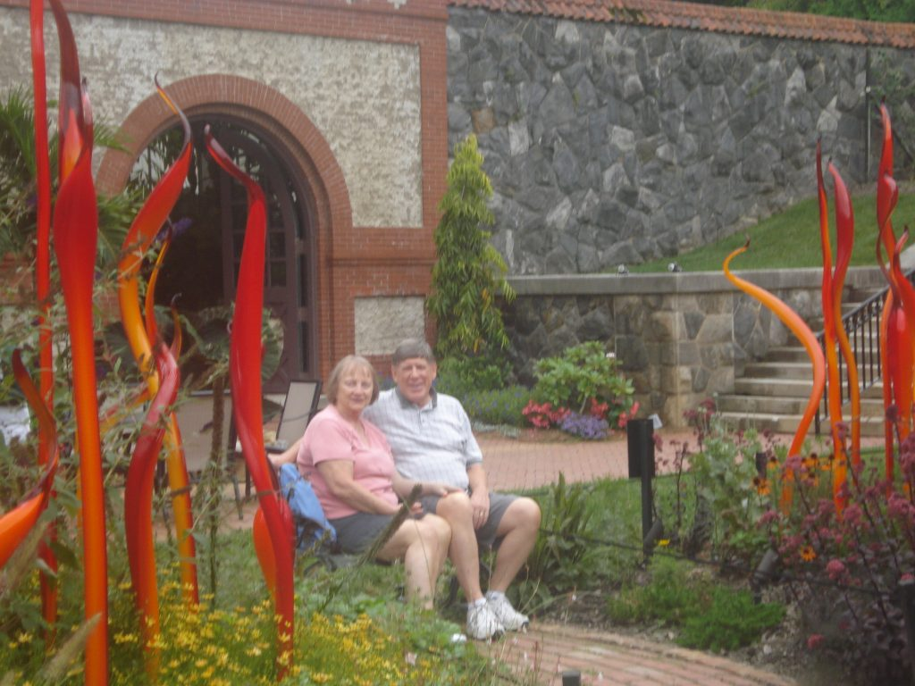 faithfulness, Mom and Dad at chihuly 50th anniversary