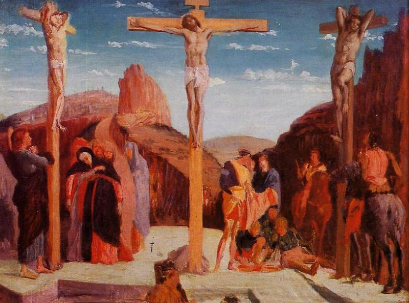 (love blog) The Crucifixion, after Andrea Mantegna 1861 67x91cm oil/canvas Musée des Beaux-Arts, Lyon, France