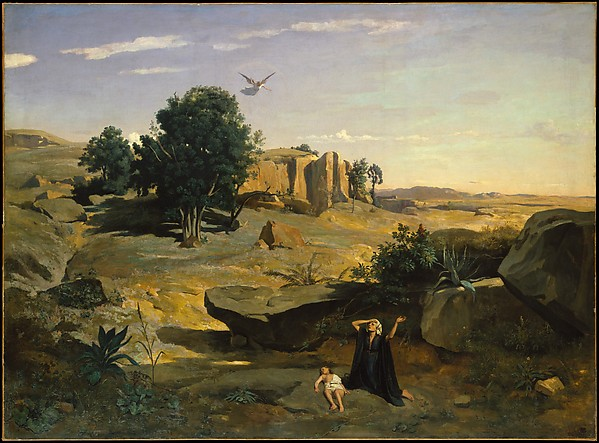 Do you have a vision probem: Hagar in the Wilderness by Camille Corot, 1835