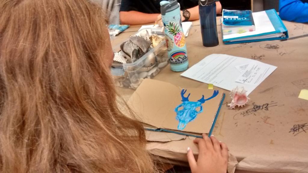 student teacher blog, blue animal skull