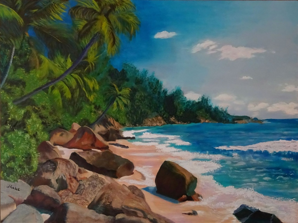 "© Laura Gabel, ""My Puerto Rico"". 30 x 40, oil. Private Collection.Purchase Here"