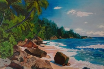 "© Laura Gabel, ""My Puerto Rico"". 30 x 40, oil. Private Collection."