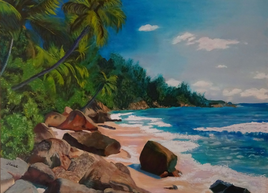 """© Laura Gabel, """"My Puerto Rico"""". 30 x 40, oil. Private Collection."""