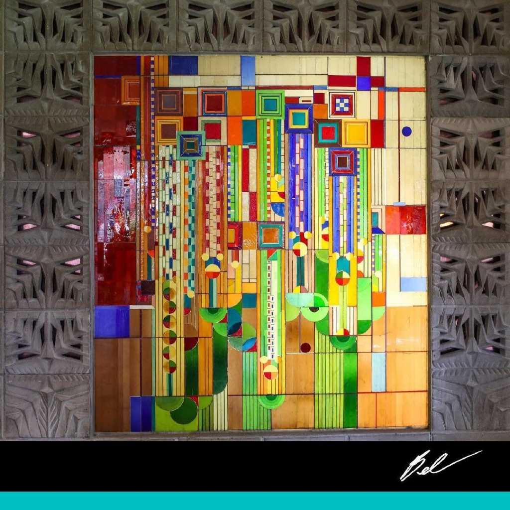 Saguaro Stained Glass, Frank Lloyd Wright