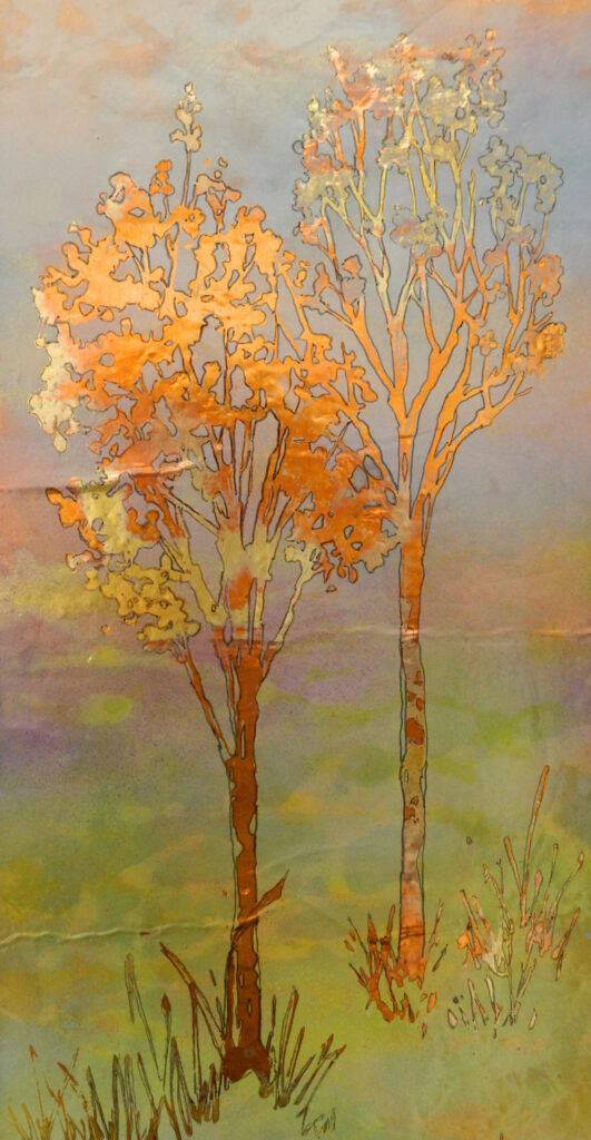 2 trees 12x24 $300.00 by Lyn Novak Hise