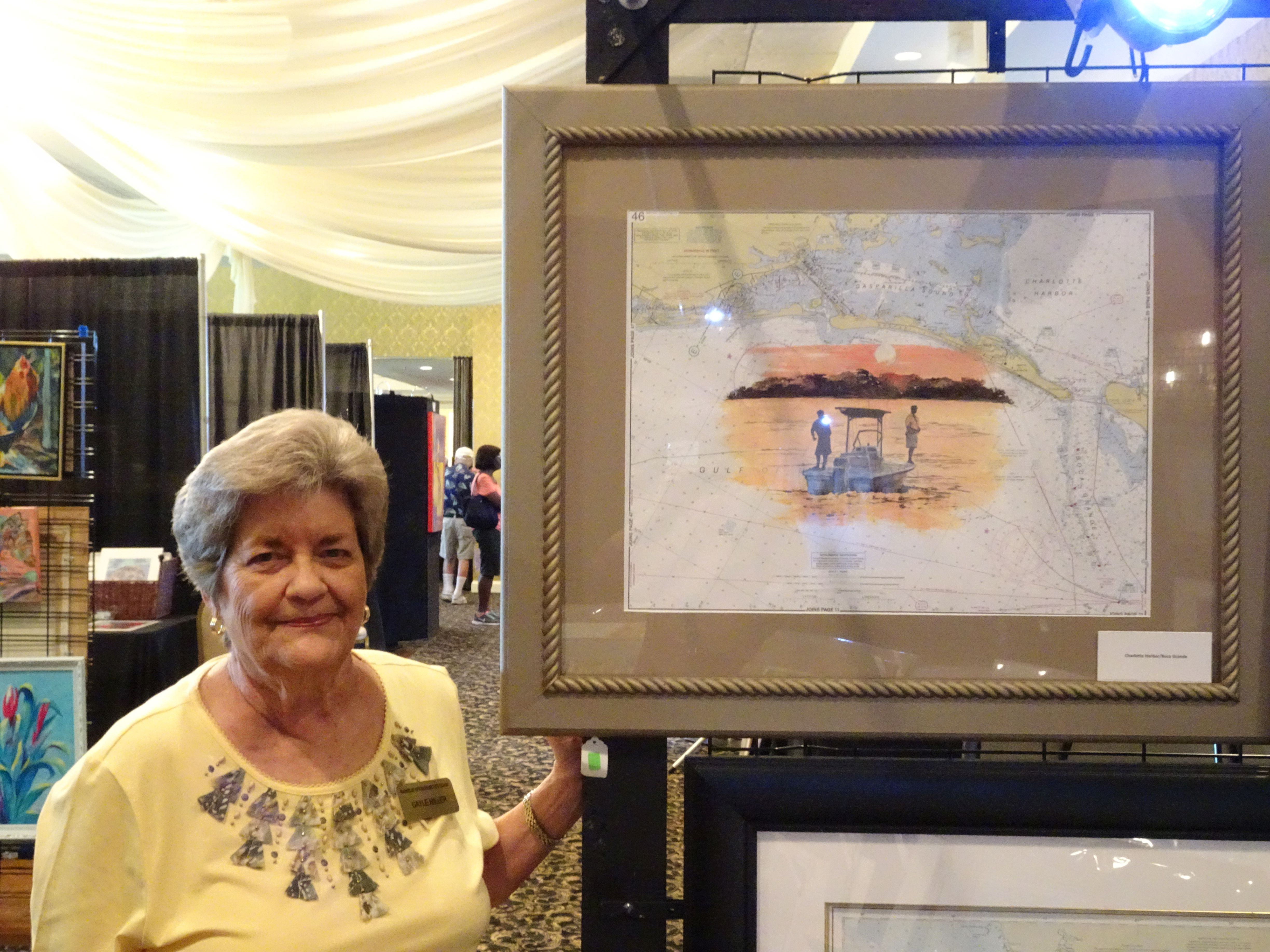 Gayle Miller at Hernando County Art Festival
