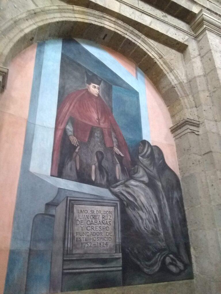 Orozco fresco of Bishop Cabañas, Museo Cabañas, Guadaljara, Mexico
