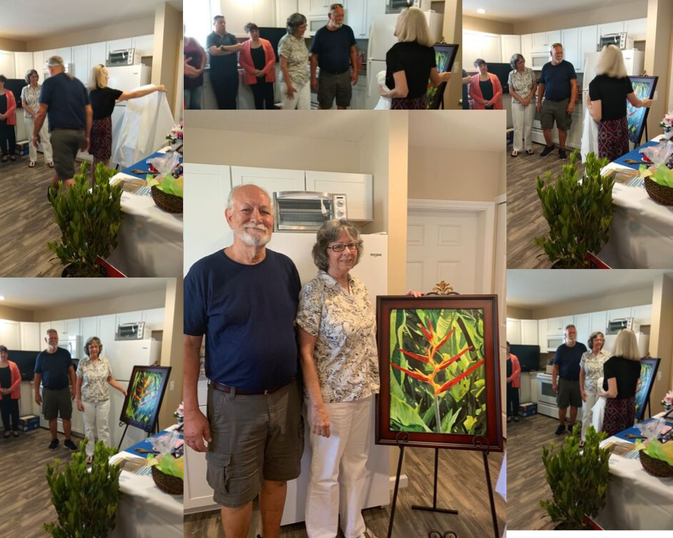 Ford Family, Habitat House a Home, Paradise painting