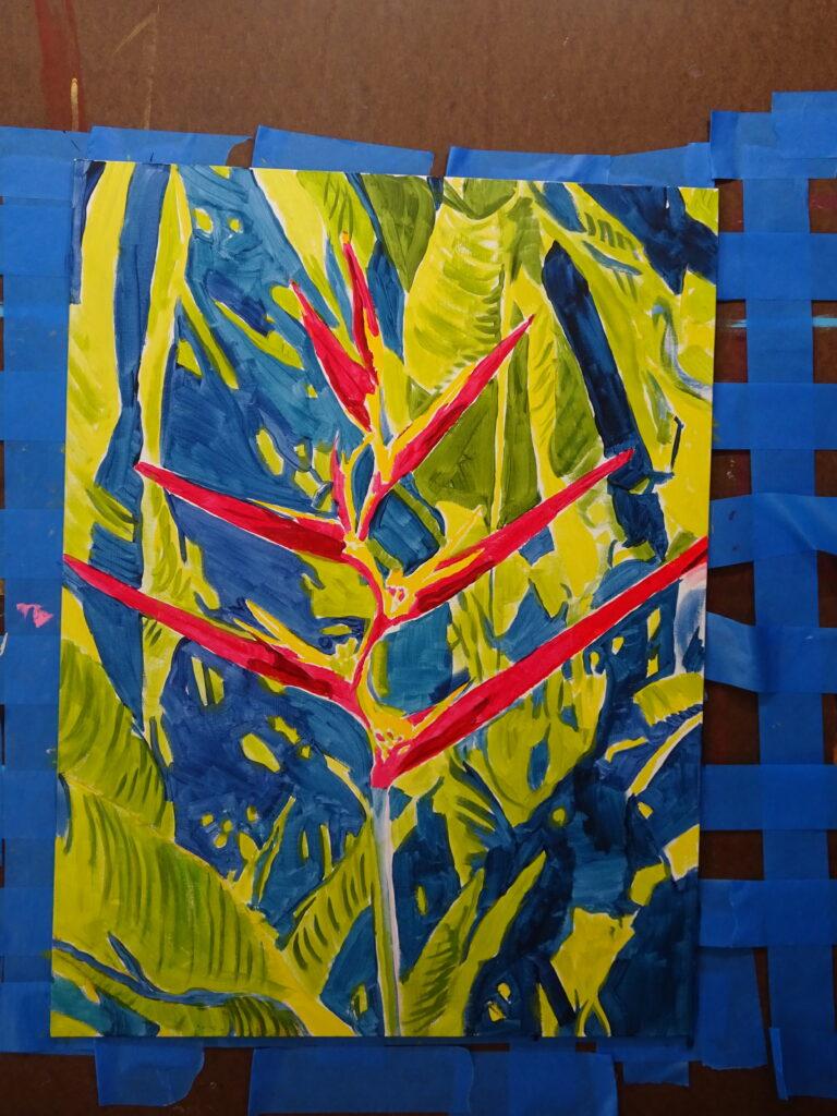 Habitat House painting step 1