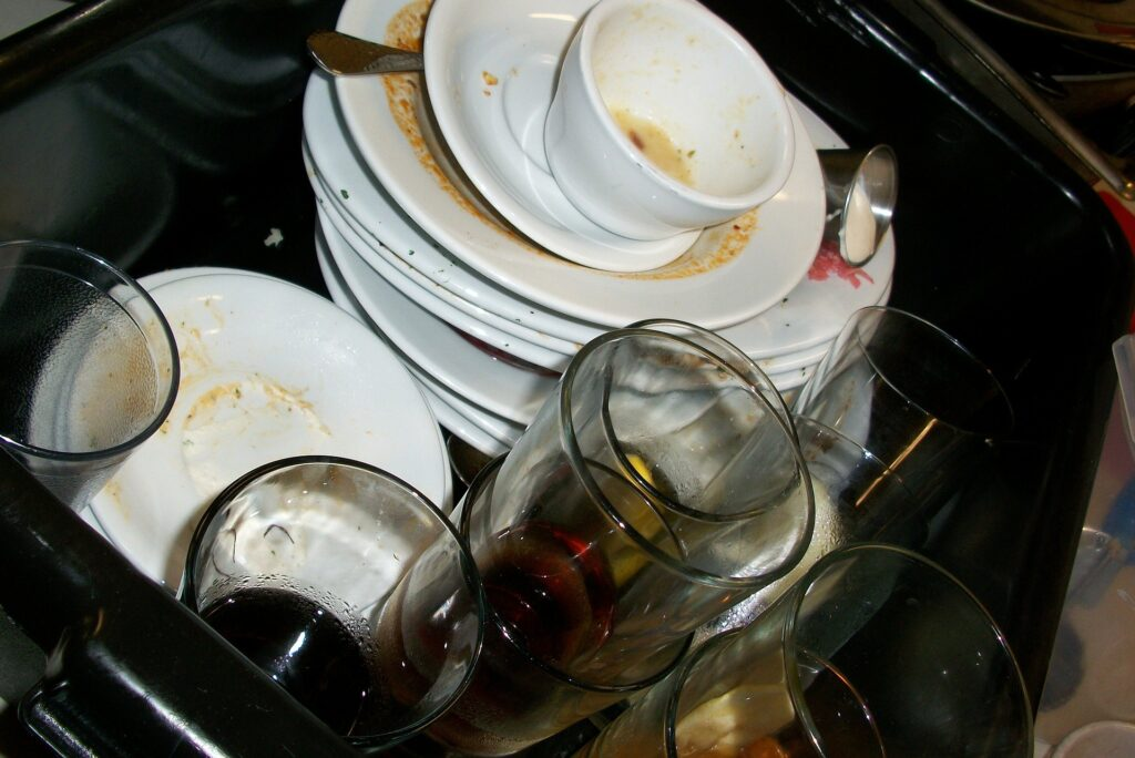 mundane to holy - dishes in the sink